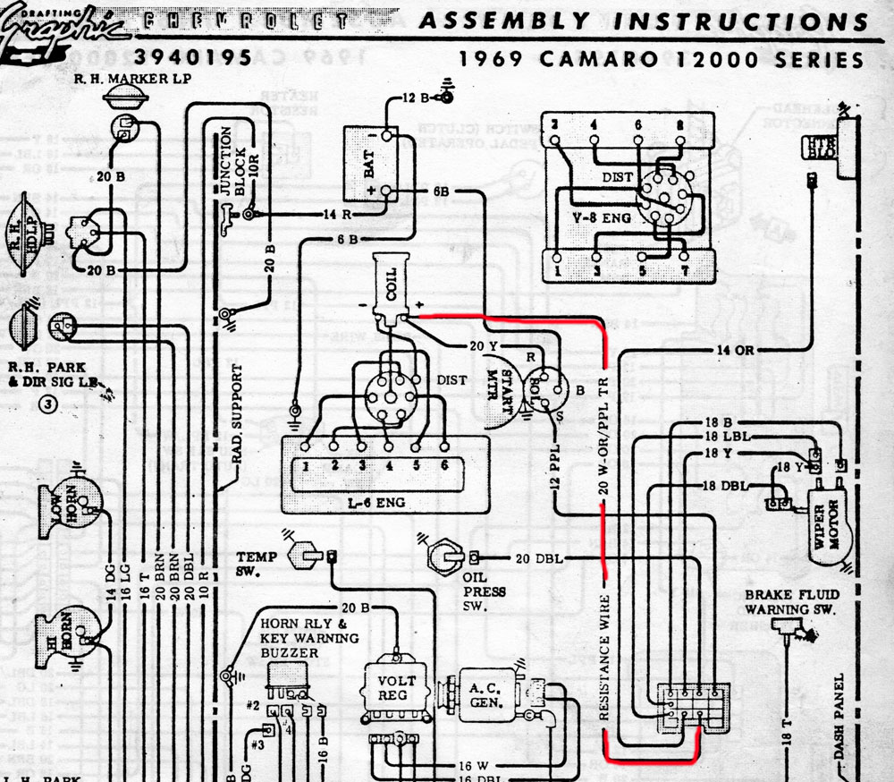 1969 Camaro Wiring Diagram : Ignition wiring diagram nova get free image about